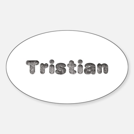 Tristian Wolf Oval Decal