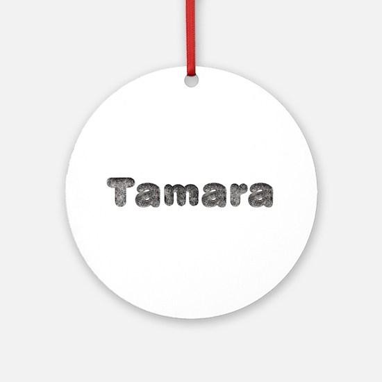 Tamara Wolf Round Ornament