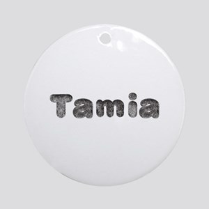 Tamia Wolf Round Ornament