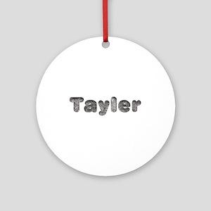 Tayler Wolf Round Ornament