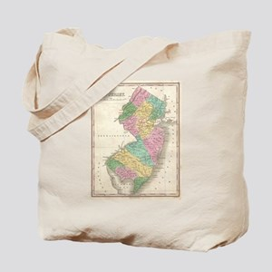 Vintage Map of New Jersey (1827) Tote Bag