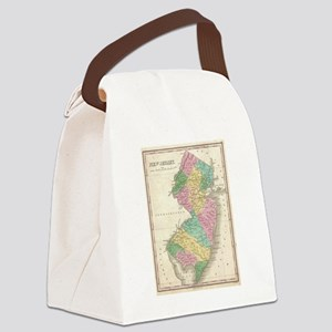 Vintage Map of New Jersey (1827) Canvas Lunch Bag