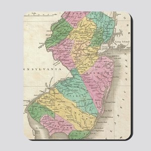 Vintage Map of New Jersey (1827) Mousepad