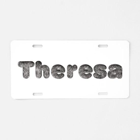 Theresa Wolf Aluminum License Plate