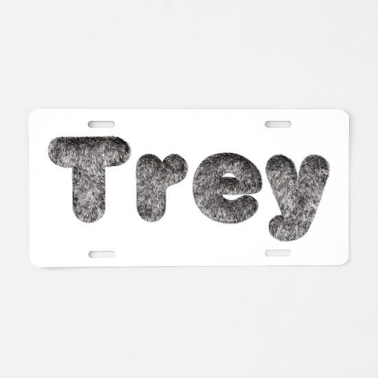 Trey Wolf Aluminum License Plate