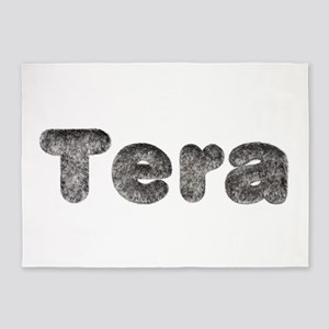 Tera Wolf 5'x7' Area Rug