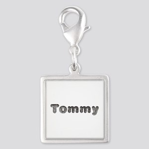 Tommy Wolf Silver Square Charm