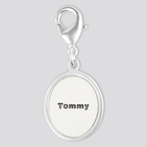 Tommy Wolf Silver Oval Charm
