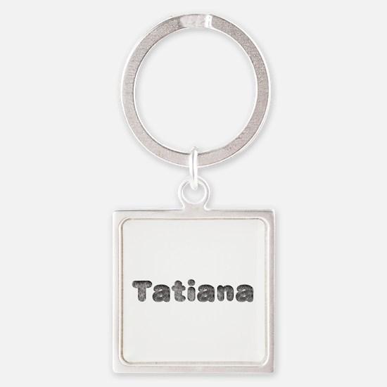 Tatiana Wolf Square Keychain