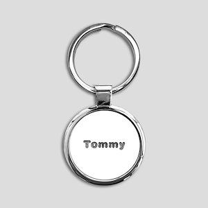 Tommy Wolf Round Keychain