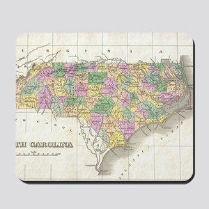 Vintage Map of North Carolina (1827) Mousepad