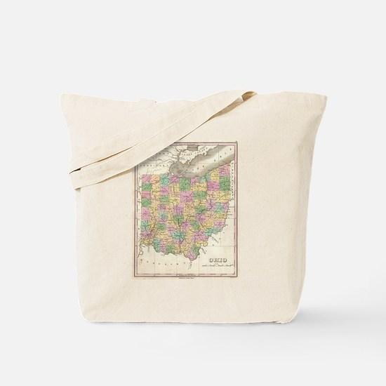 Vintage Map of Ohio (1827) Tote Bag
