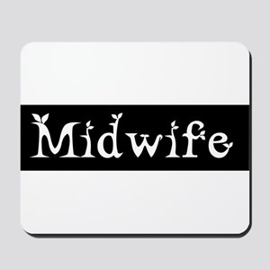 Midwife Black and White Mousepad
