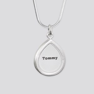Tommy Wolf Silver Teardrop Necklace