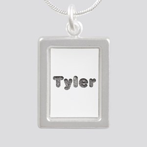 Tyler Wolf Silver Portrait Necklace