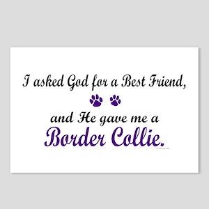God Gave Me A Border Collie Postcards (Package of