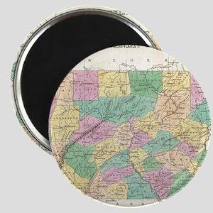 Vintage Map of Pennsylvania (1827) Magnet