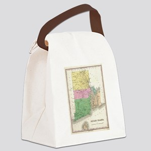Vintage Map of Rhode Island (1827 Canvas Lunch Bag