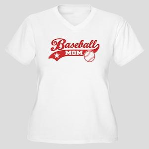 Baseball Mom Women's Plus Size V-Neck T-Shirt