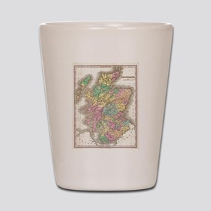 Vintage Map of Scotland (1827) Shot Glass