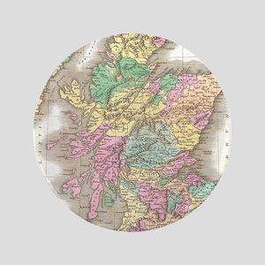Vintage Map of Scotland (1827) Button