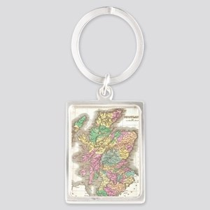 Vintage Map of Scotland (1827) Portrait Keychain