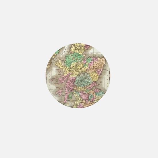 Vintage Map of Scotland (1827) Mini Button