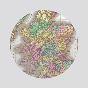 Vintage Map of Scotland (1827) Round Ornament