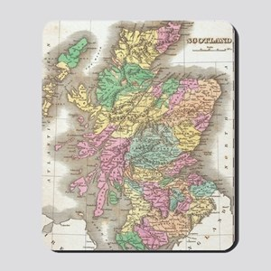 Vintage Map of Scotland (1827) Mousepad