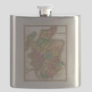 Vintage Map of Scotland (1827) Flask