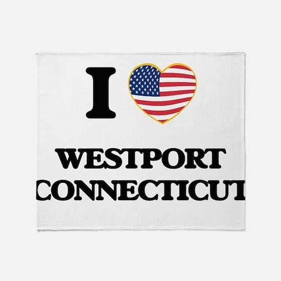 I love Westport Connecticut Throw Blanket