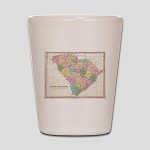 Vintage Map of South Carolina (1827)  Shot Glass