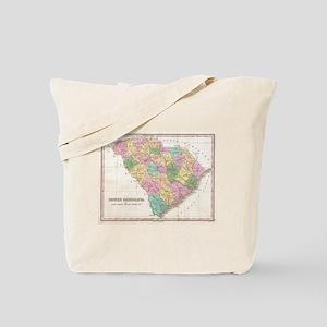 Vintage Map of South Carolina (1827)  Tote Bag