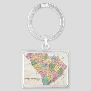Vintage Map of South Carolina ( Landscape Keychain
