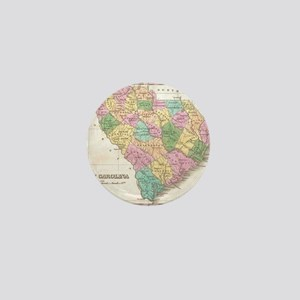 Vintage Map of South Carolina (1827)  Mini Button
