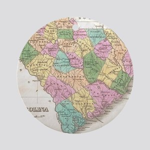 Vintage Map of South Carolina (1827 Round Ornament