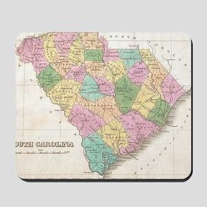 Vintage Map of South Carolina (1827)  Mousepad