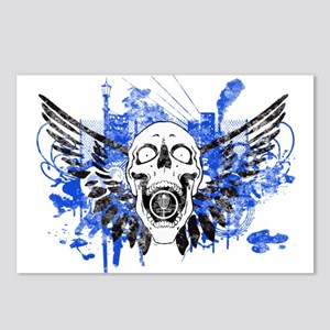 Flying Skull Distressed Postcards (Package of 8)