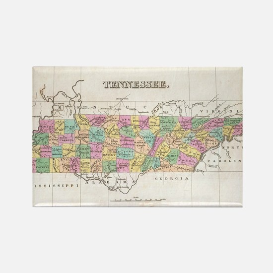 Vintage Map of Tennessee (1827) Rectangle Magnet