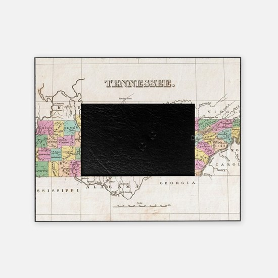 Vintage Map of Tennessee (1827) Picture Frame