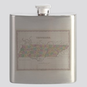 Vintage Map of Tennessee (1827) Flask