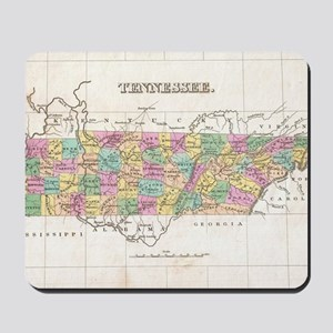 Vintage Map of Tennessee (1827) Mousepad