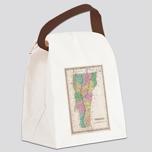 Vintage Map of Vermont (1827) Canvas Lunch Bag