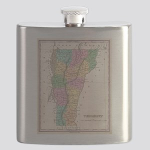 Vintage Map of Vermont (1827) Flask