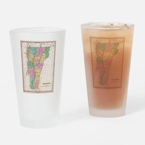 Vintage Map of Vermont (1827) Drinking Glass