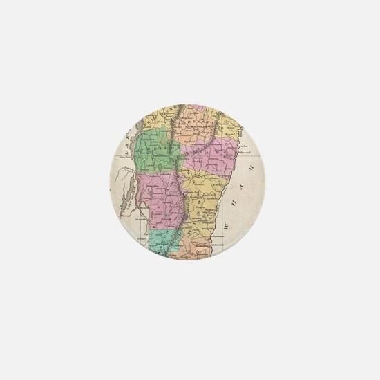 Vintage Map of Vermont (1827) Mini Button