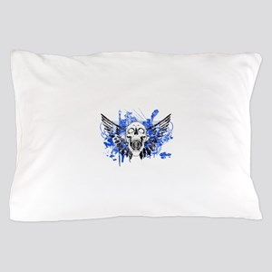 Flying Skull Distressed Pillow Case
