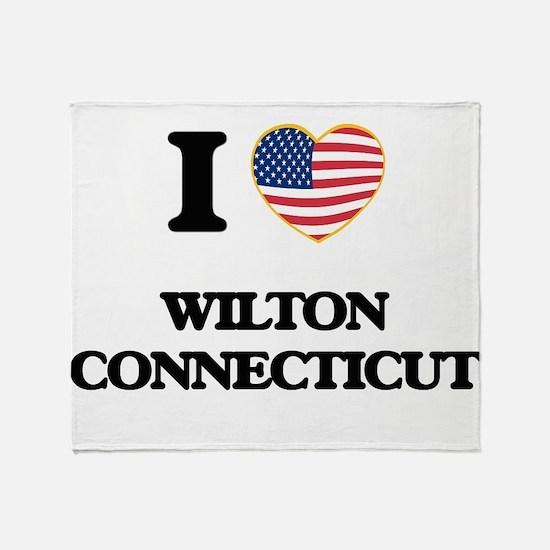 I love Wilton Connecticut Throw Blanket