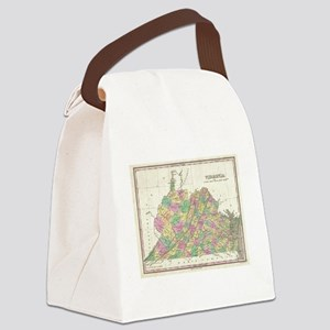 Vintage Map of Virginia (1827) Canvas Lunch Bag