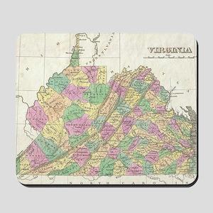 Vintage Map of Virginia (1827) Mousepad